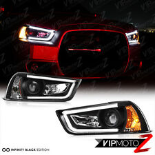 2011-2014 Dodge Charger [BLACK BEAST] Neon Tron Tube Projector Headlight Lamps