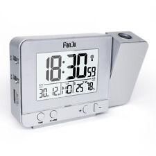 FanJu FJ3531 Projection Alarm Desk Table Clock Indoor Temperature Humidity USB