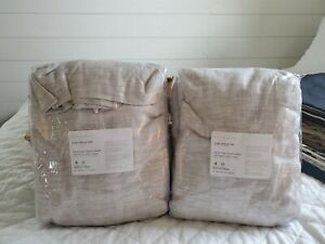 """Pottery Barn Seaton Textured blackout Lined Drape S/2 50x 96"""" Neutral"""