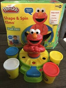 Play doh  Sesame Street Shape & Spin Elmo play set in box