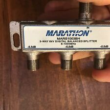 3 WAY MARATHON DIGITAL COAX CABLE BALANCED SPLITTER 6kV MARS1003BH 5-1000 Mhz