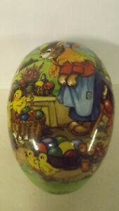 """New Large 9 1/2"""" German Fillable Paper Mache Egg Bunny Chick Eggs"""