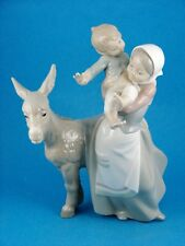 The Walk Donkey Ride (Mom & Boy w Mule) - Retired Figurine by Lladro $4843