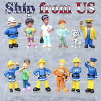 """2"""" Fireman Elvis Penny 12 PCS Action Figures Playset Cake Topper Party Toy Doll"""