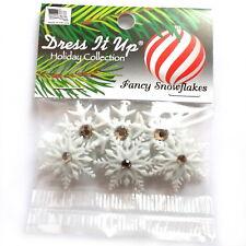 Dress It up Buttons Fancy Snowflakes 9498 - Snow Rhinestones Xmas Christmas