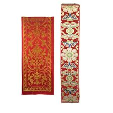 Beautiful Late 19th C. Woven Silk French and Chinese Borders (2589)