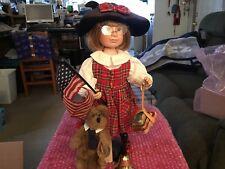 "Boyds Yesterday's Porcelain Doll ""Christa"" & Harvey Bear"