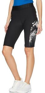 Nike Womens Dri-Fit Power Compression Graphic Printed Black Training Exercise