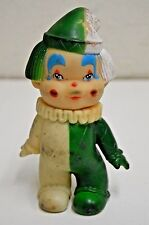 Vintage Mid Century Painted Working CLOWN Shaped Rubber Squeak Toy Rare