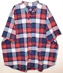 Polo Ralph Lauren Big & Tall Mens Red Blue Plaid S/S Button-Front Shirt NWT XLT