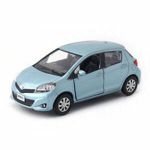 1:36 Toyota Yaris Miniature Model Car Diecast Toy Vehicle Kids Pull Back Blue