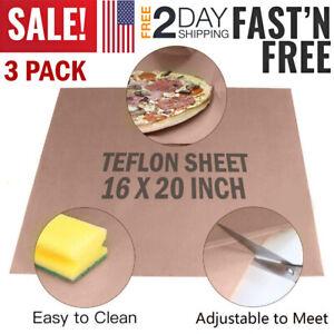 3 Teflon Transfer Sheets for Heat Press Non Stick Iron Resistant Reusable Craft