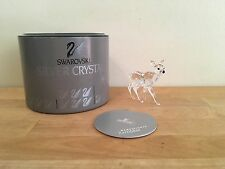 Swarovski Silver Crystal Fawn 7608 Nr 000 002 Mint w/ Container & Coa