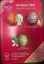 eos Lip Balm Trio. Pink Coconut-Cherry & Bright. Whipped Vanilla Frosting. Super