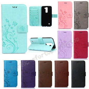 Embossing Patterned Flip Magnetic Stand Lot Card Pocket PU Leather Cover Case