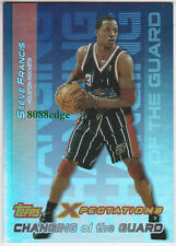 2001-02 TOPPS XPECTATION SCHANGING OF THE GUARD: STEVE FRANCIS #CG6 ROCKETS