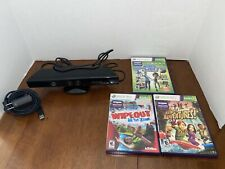 Xbox 360 Kinect With Adapter and Games!
