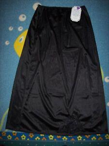 Heavenly Secrets Half Slip Womens Lingerie M L 1X 3X Blk Shapewear Polyester New