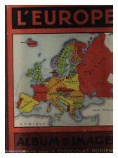 COLLECTEUR ALBUM IMAGES CHOCOLAT PUPIER L'EUROPE BE