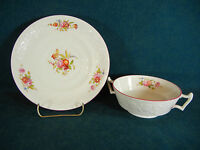 Copeland Spode Flower Embossed 2/8036 Discounted Cream Soup and Under Plate(s)