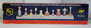1979 Coleco Trophy Collection + Box + Stand -- 10 Trophies .. Pristine Condition
