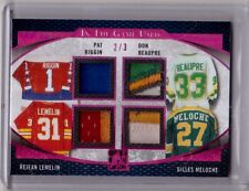 PAT RIGGIN DON BEAUPRE LEMELIN MELOCHE 16/17 Leaf In The Game Used Patch #d 2/3