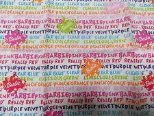 "Barbie Color Fabric Fat Quarter, 19"" x 19"""