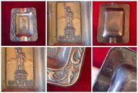 Statue Of Liberty New York City Pressed 3D Vintage Metal Souvenir Ashtray Japan