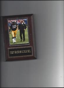 TERRY BRADSHAW & CHUCK NOLL PLAQUE PITTSBURGH STEELERS FOOTBALL NFL