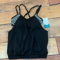 Aquatech Womens Tankini Size XS Swimsuit Top New NWT D117