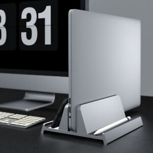 Vertical Laptop Stand for Macbook Air Pro Desktop Stand with Adjustable Dock Siz