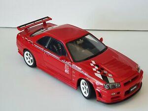 NISMO NISSAN SKYLINE GT-R R-TUNE (R34) R1 VERSION RED 1:18 by AUTOart