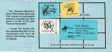 2002 USA Stamp #LTD97 Sisseton-Wahpeton Sioux Tribe Game & Fish Hunting License