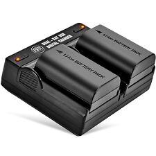BM 2 LP-E6N Batteries & Dual Charger for Canon EOS-R 60D, 70D EOS 80D C700 XC15