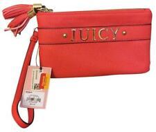 Juicy Couture Wristlet Clutch Mini Purse Bag Tassles Orange-Geranium New Tags