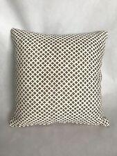 "John Robshaw ""Rabari Clay"" designer throw pillow 18""x18"" decorative linen"