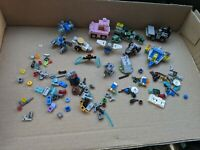 Lego lot incomplete vehicle space ship parts weapon delorean pink Jeep star wars