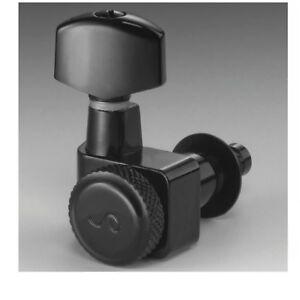 Schaller F Series Locking Tuner 6 in Line Black Chrome 10560420.01.50