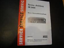 Original Service Manual Schaltplan RFT VEB SR 2400