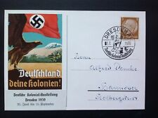 Germany Third Reich Colonial  Exhibition Coloured Postcard 3/7/1939
