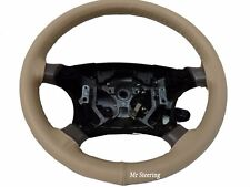 FOR CHEVROLET ASTRO 95-05 REAL GRAIN BEIGE LEATHER STEERING WHEEL COVER