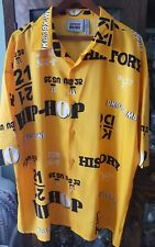 3xl men's button shirt club Hip Hop History Original Collection yellow