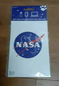 ROUND NASA  DECAL STICKER about FOUR INCHES