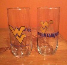 Vintage West Virginia Mountaineers Ncaa 16oz Drinking Glass Tumbler
