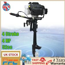 4HP 4-Stroke Outboard Motor Fishing Boat Engine & Air Cooling CDI System 2.8KW