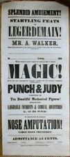 MAGIC 1855 Advertising Broadside / Poster - Nose Amputation & Mechanical Figures