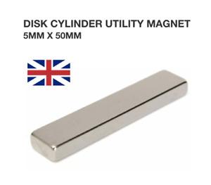 10/20/50pcs N52 Scheibe Zylinder Nutzen Magneten 50x10x5mm Selten Erde