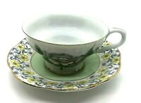 Beautiful Rosina Bone China Cup and Saucer Made in England Yellow Floral Vintage