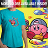 Kirby Artist Painter Game Nintendo Graphics Unisex Mens Tee Crew Neck T-Shirt