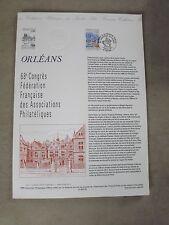 Collection Historique Timbre Poste 1er Jour : 2/06/95 - ORLEANS  68éme congres